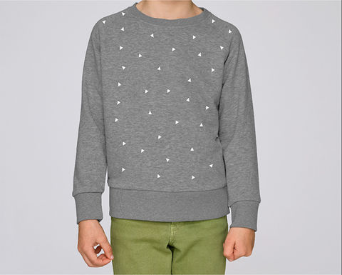 Triangle,Sweatshirt,Heather,Grey