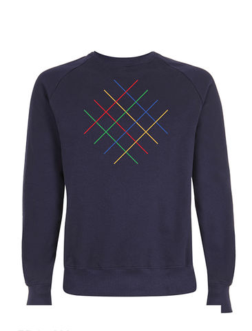 Circuits,Navy,Sweatshirt,Organic Cotton Sweatshirt