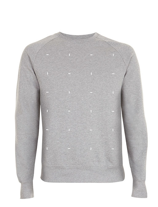Blocks White on Heather Grey Sweatshirt - product images  of