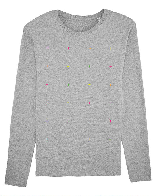 Blocks Long Sleeved Heather Gray T-Shirt - product images  of