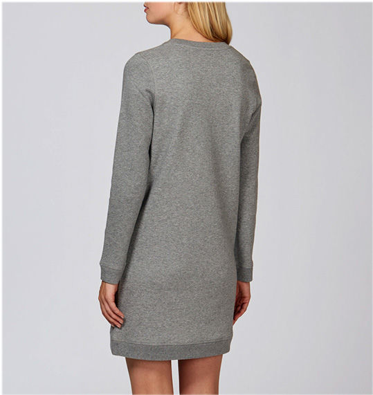 Polka Fluoro Heather Gray Shirt Dress - product images  of