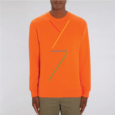 Orange,Dancer,Organic Cotton Sweatshirt, Orange Sweatshirt, Organic Cotton Orange Sweatshirt, orange dancer sweatshirt, men's orange sweatshirt, women's orange sweatshirt, unisex orange sweatshirt, men's organic cotton orange sweatshirt, women's organic cotton orange