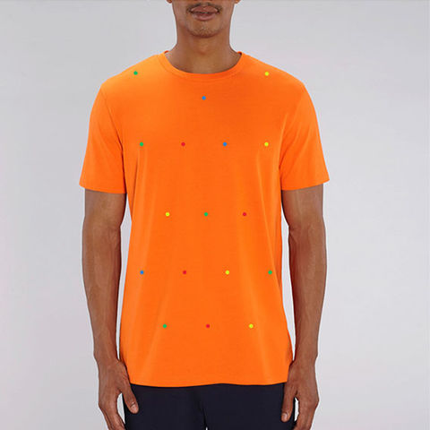 Bright,Orange,T,Shirt,Organic Cotton T Shirt, Orange Organic Cotton T Shirt, Bright Orange T Shirt, men's orange t shirt, men's orange organic cotton t shirt