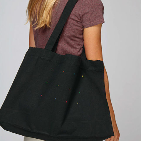 Reks,Black,Tote,Bag,Organic Cotton Tote Bag, Black Organic Cotton Tote Bag, Reks Black Tote Bag