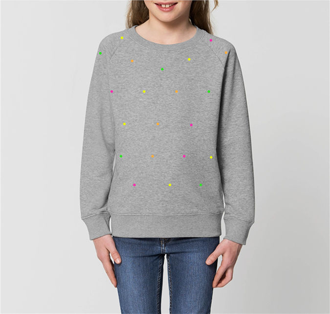 Kids Polka Fluo / Heather Gray - product images  of