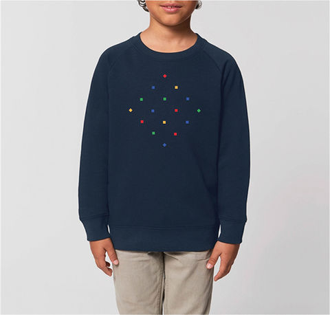 Kids,Particles,Navy,Sweatshirt,Organic Cotton Kids Sweatshirts, Navy Organic Cotton Kids sweatshirt, kids particles navy, Sweatshirt, navy boys sweatshirt, navy girls sweatshirt