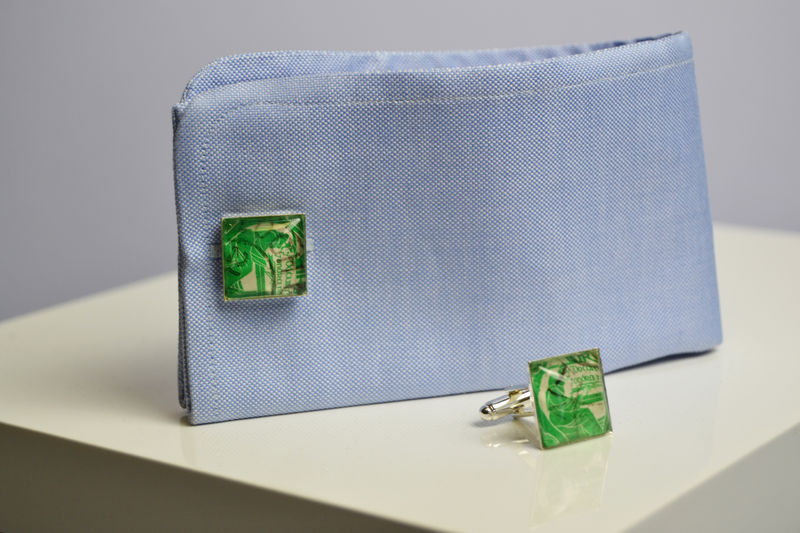 Irish 1944 stamp cufflinks  - product images  of