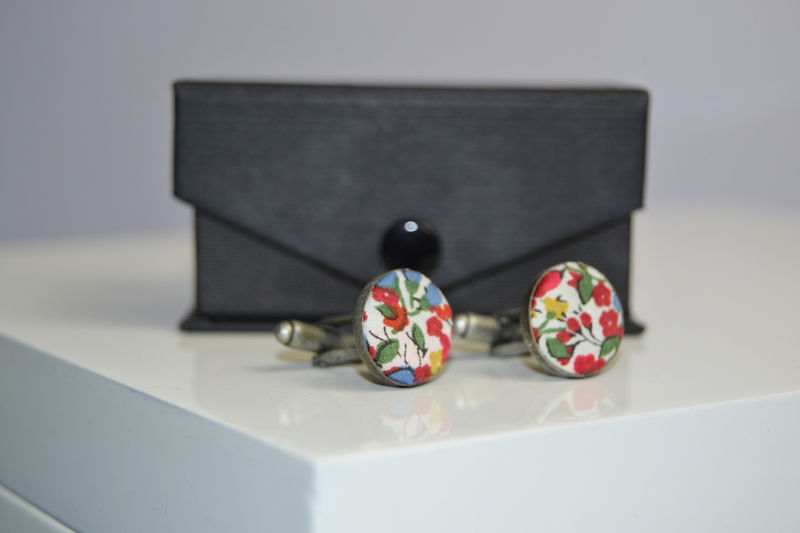 Liberty of London Covered button cufflink  - product images  of