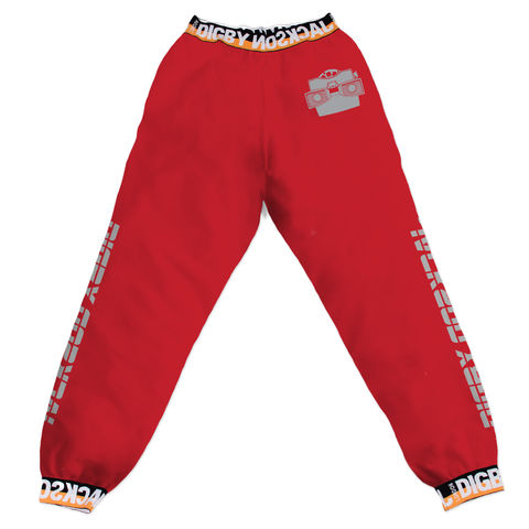 SOUVENIR,SWEATPANTS,-,RED,/,STEREOSCOPE
