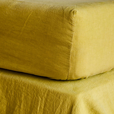 Linen,Fitted,Sheets,Linen Bedsheet, Linen, Bed Linens, Copriletto, Heavy Linen, White