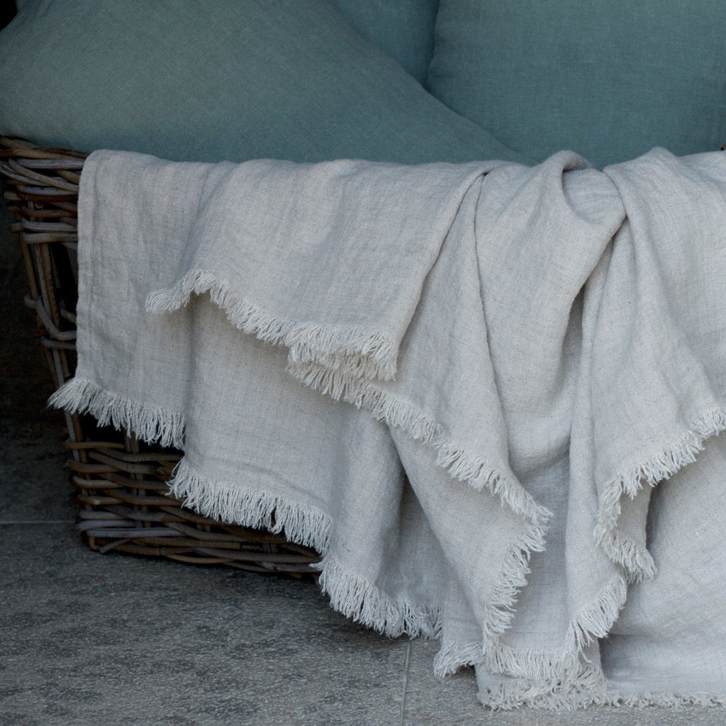 Linen Summer Throw - product images  of
