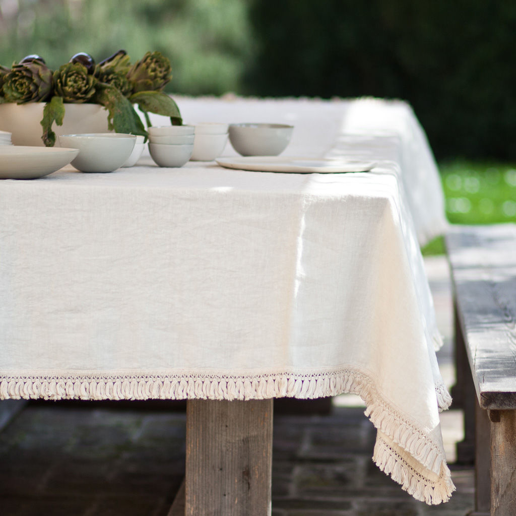 Exceptional ... Linen Tablecloth With Fringe   Product Images Of ...