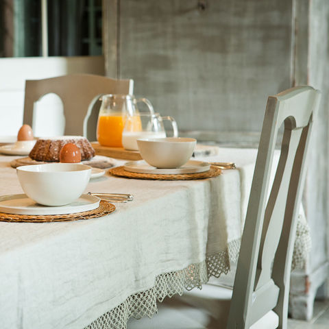 Linen,Tablecloths,with,Macramé,Italian Linen, Home Linens, Heavy Linen, Washed Linen, Table Linen