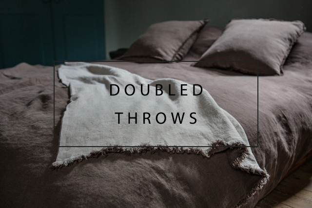 Toogood x OnceMilano linen doubled throws