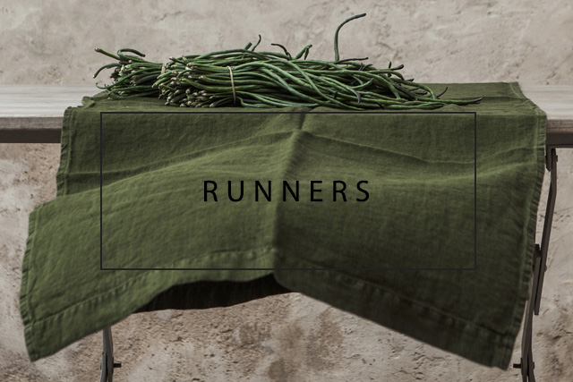 OnceMilano linen table runners