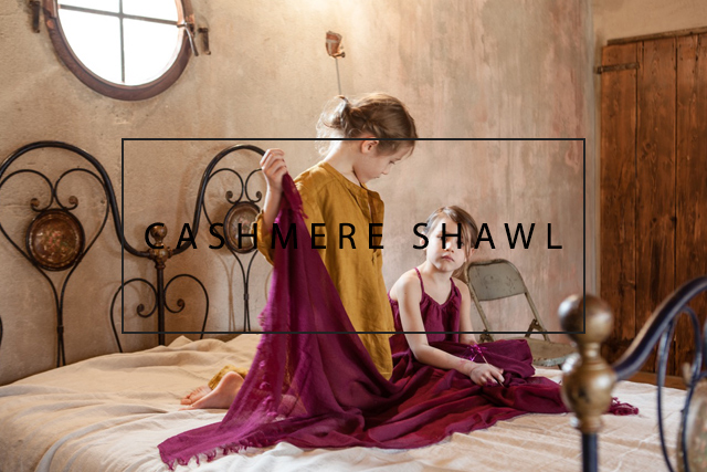 luxurious cashmere shawl