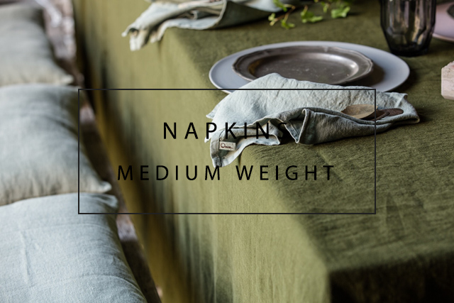handmade linen napkins medium weight