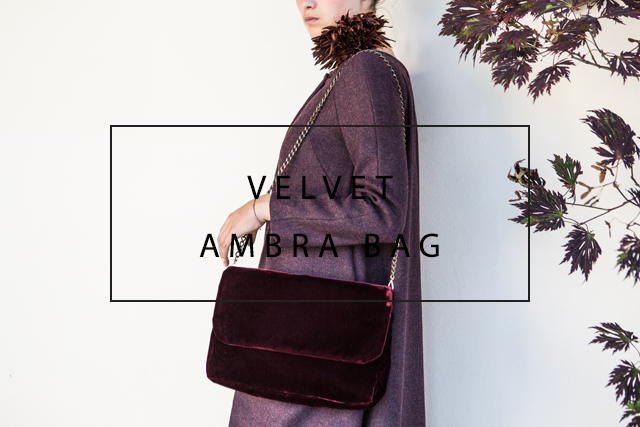 luxurious velvet bag with chain