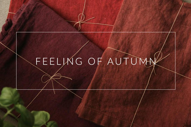 OnceMilano autumn collection of linen products