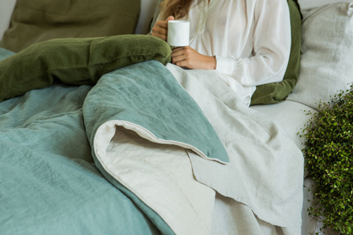 blog post on Once Milano luxurious linen blanket