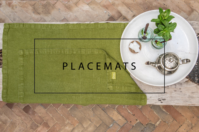 Luxury linen placemats