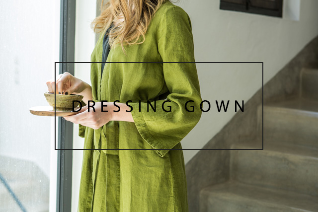 luxurious linen dressing gown