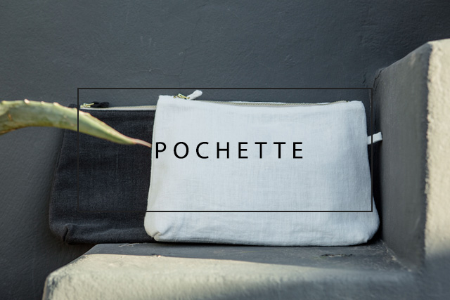 luxurious linen pochette