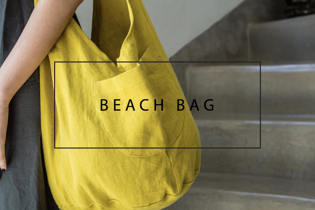luxurious linen beach bag