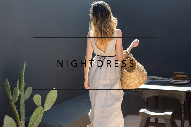 luxurious linen nightdress
