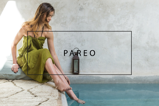 luxurious linen pareo