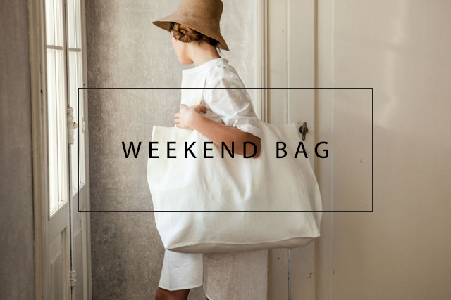 luxurious linen weekend handbag