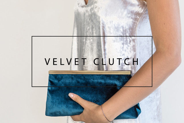luxurious velvet clutch