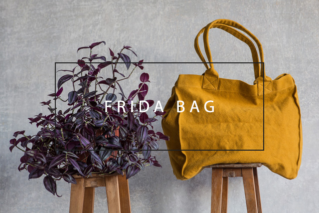 luxurious linen frida bag