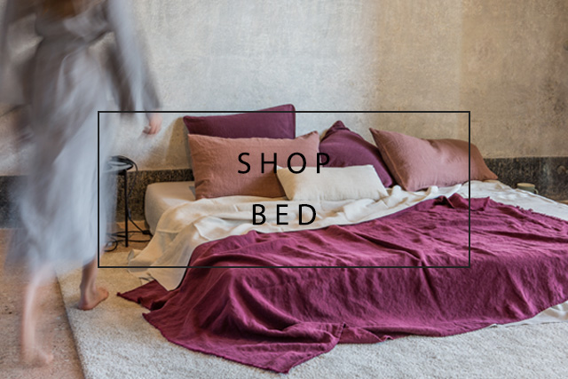shop our linen bed products