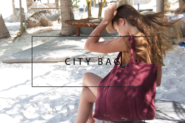 luxury linen city bag