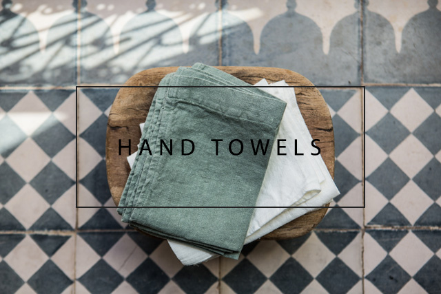 luxury linen hand towels set of 5