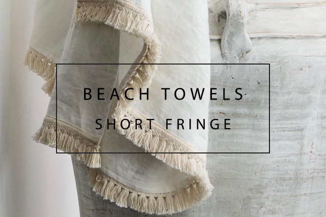 luxurious handmade italian linen beach towels with short fringe