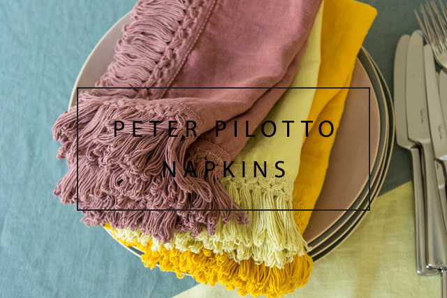 Peter Pilotto linen napkins with long fringe