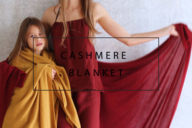 luxurious cashmere blanket