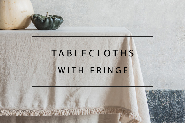 handmade italian linen tablecloth with fringes