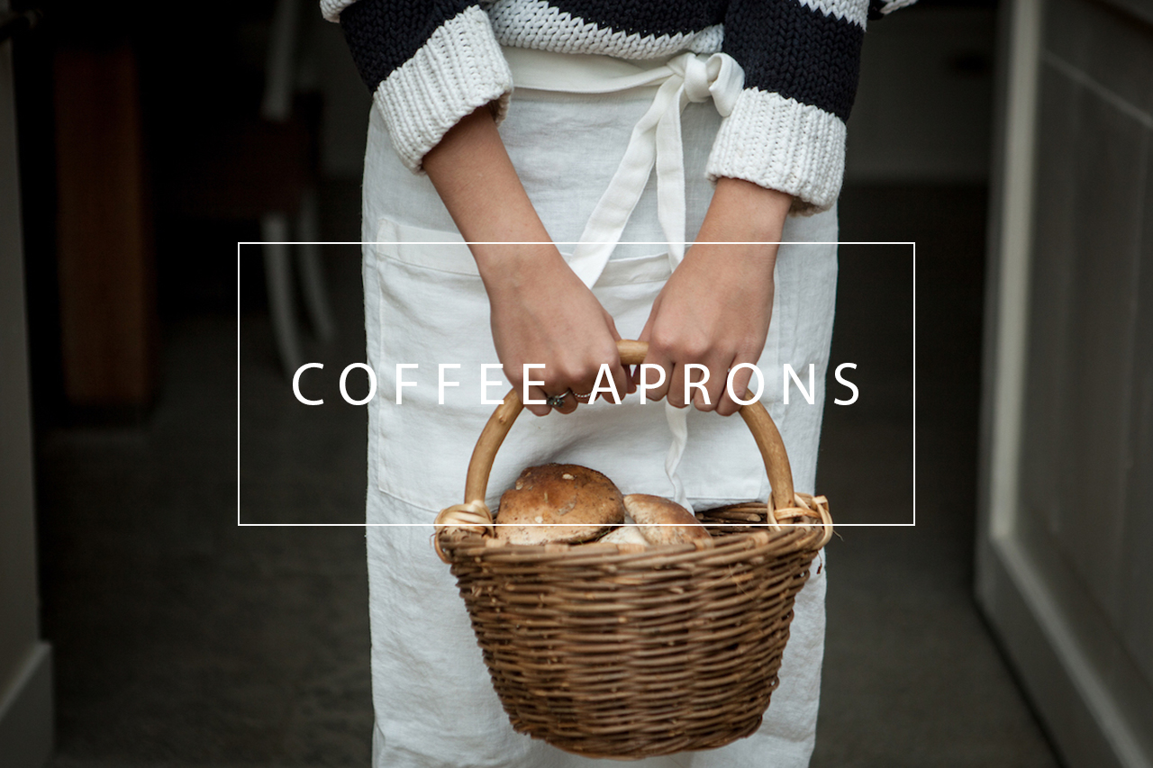 linen coffee aprons