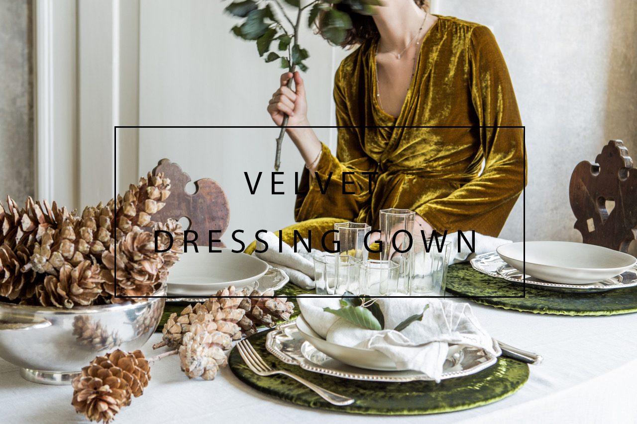 luxurious handmade velvet dressing gown