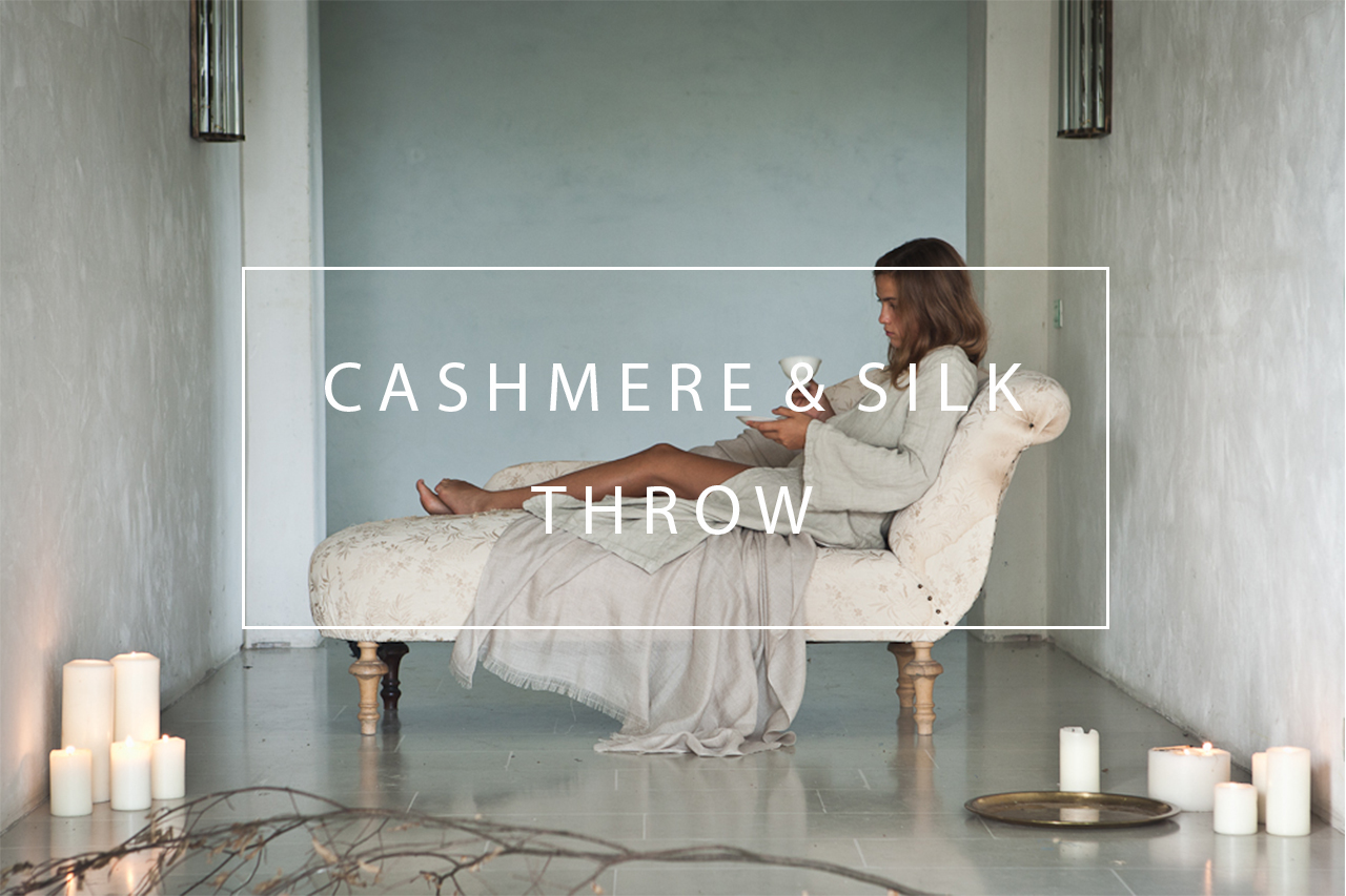 luxurious cashmere and silk throw
