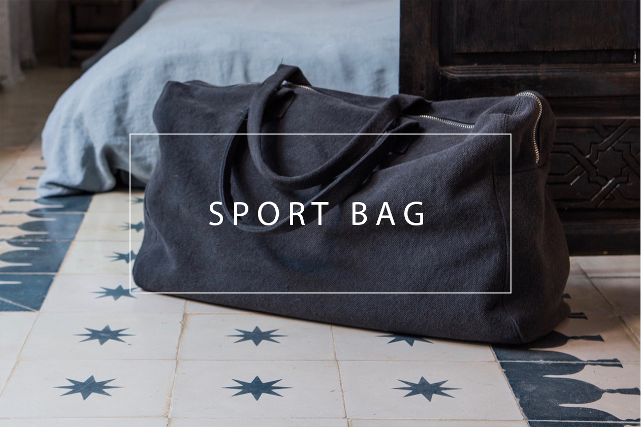 luxurious linen and cotton sports bag