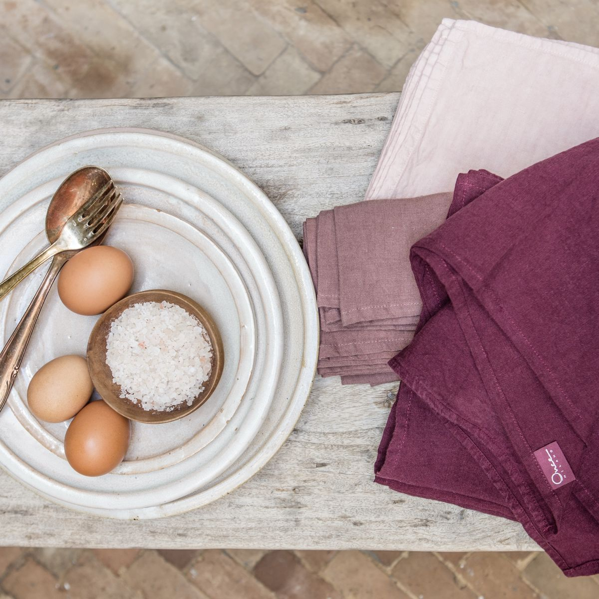 Linen Napkins Medium Weight (set of 2) - product images  of