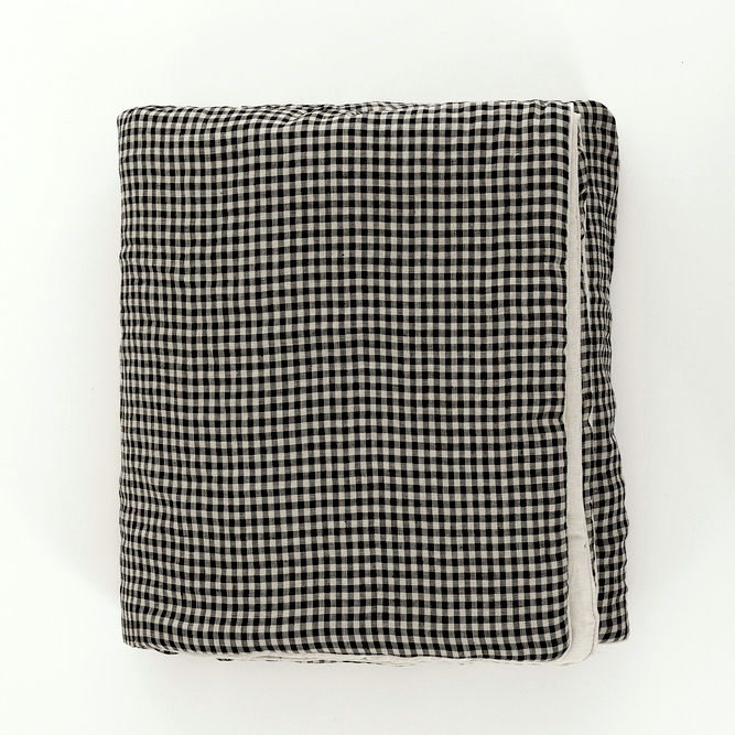 Checked Linen Blanket - product images  of