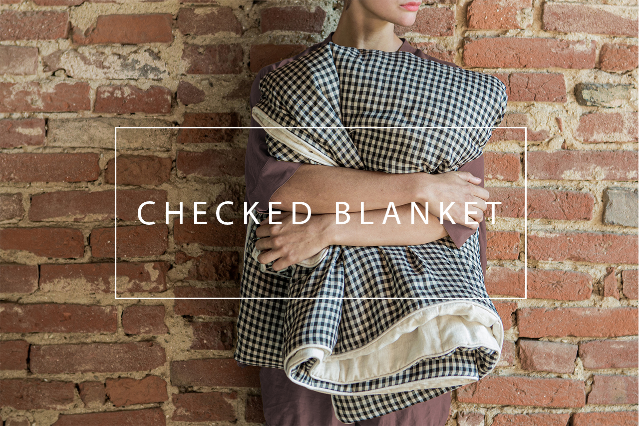 luxurious checked blanket