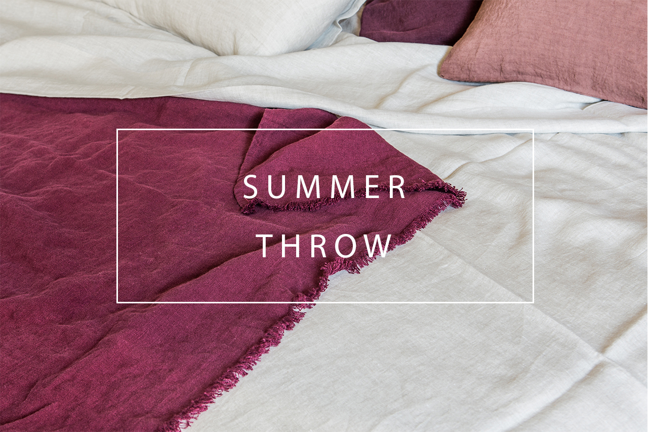 Luxury linen summer throw