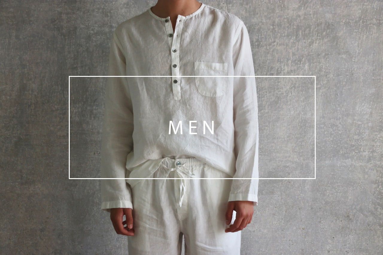luxurious handmade linen men loungewear
