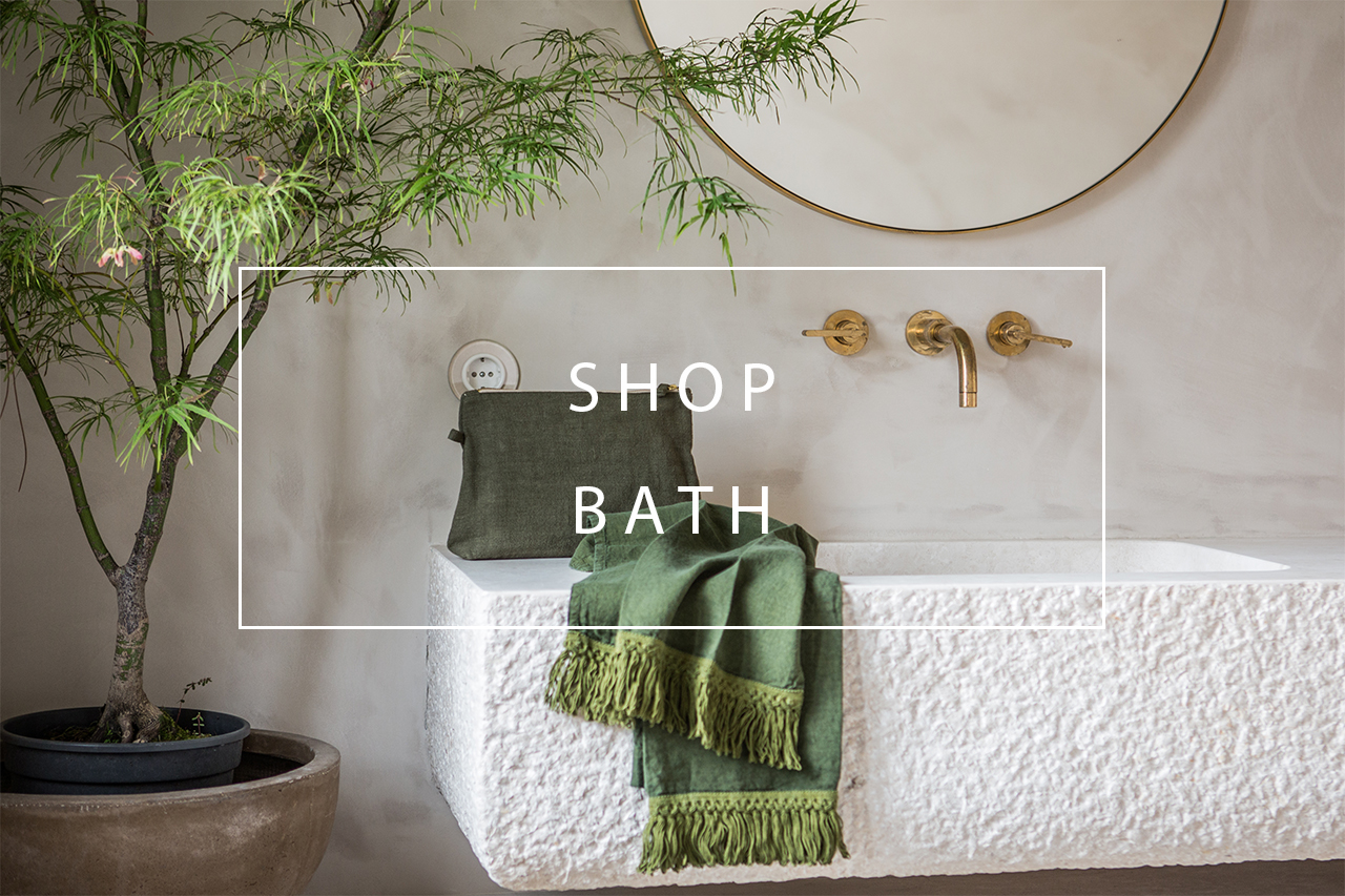 shop our linen bath products